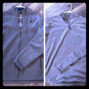 2 Grey Sweatshirts size Men's Large Gray